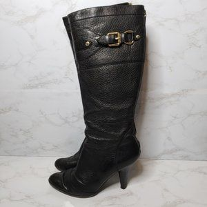 Burberry Black Leather Boots Size 40
